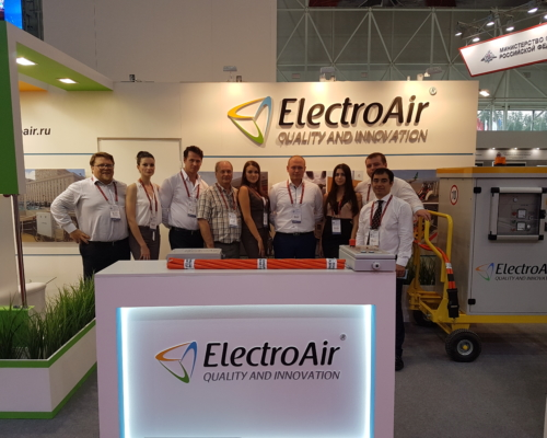 ElectroAir team in Russia's largest exhibition